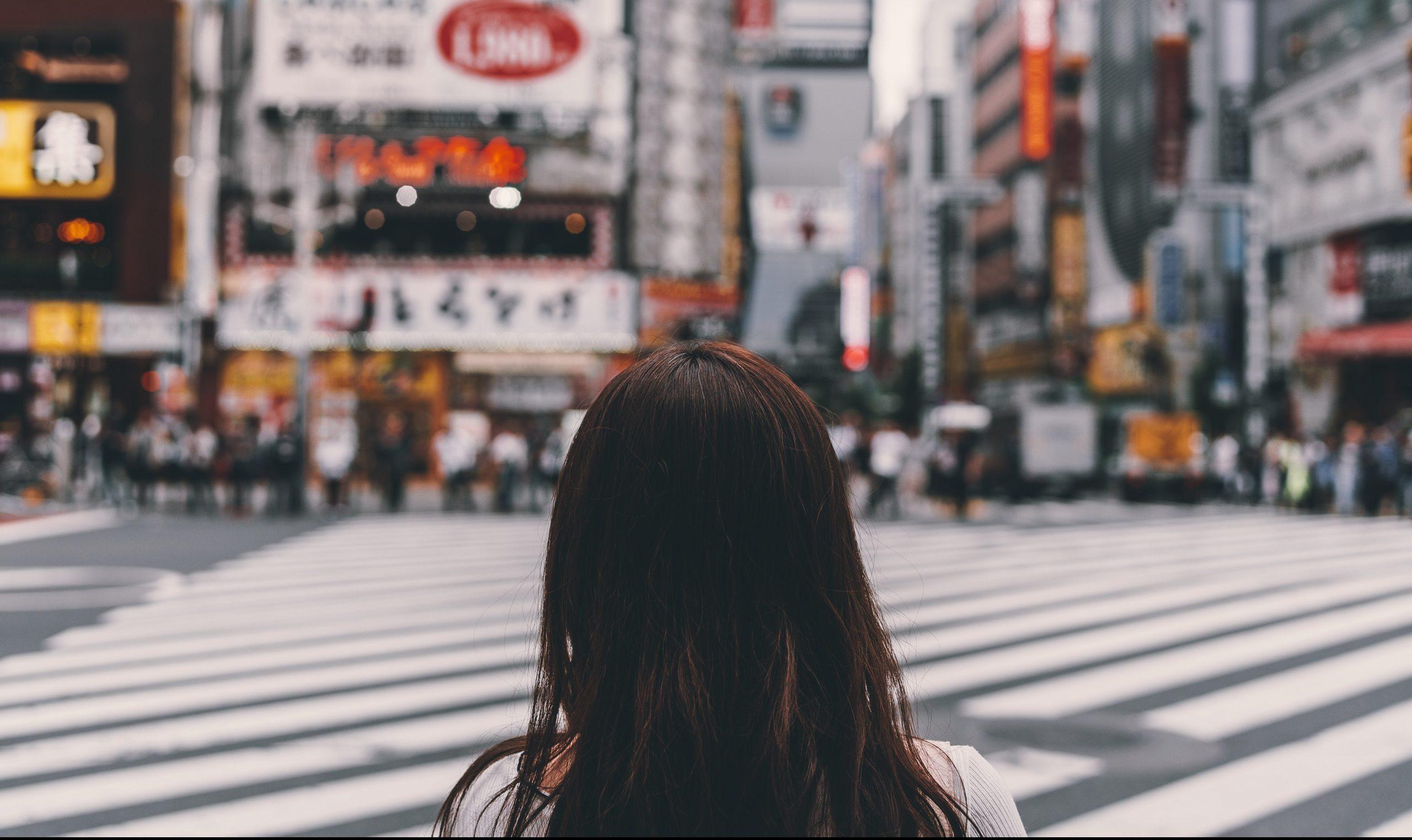 Girl at Shibuya Crossing, Tokyo